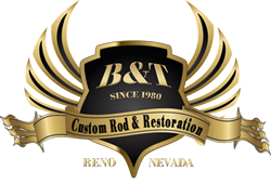 B&T Custom Rod & Restoration Retina Logo